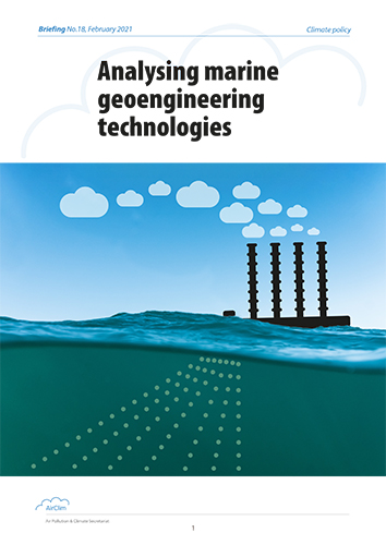 Analysing marine geoengineering technologies, cover