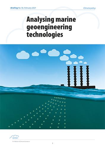 Analysing marine geoengineering technologies, cover